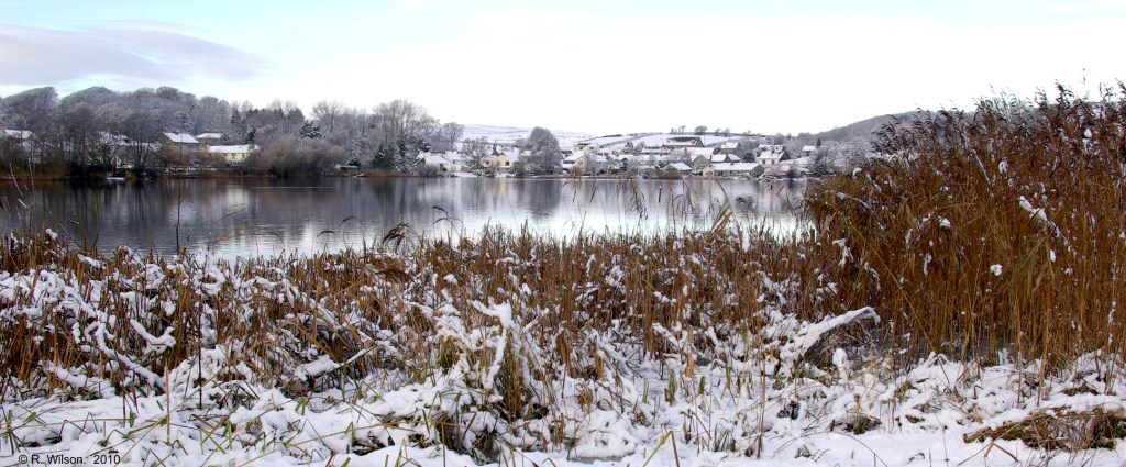 Tarn looking north with snow